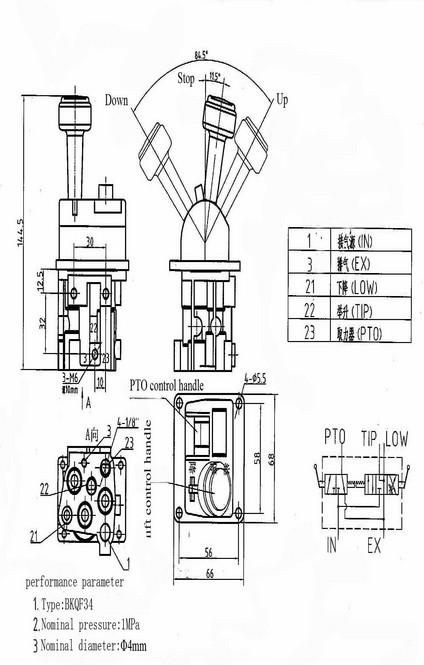 Dump truck lift valve